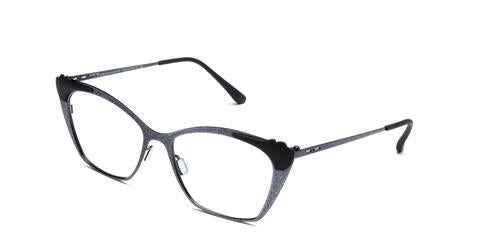 Italia Independent - Jenny Glossy Black Glitter Eyeglasses / Demo Lenses