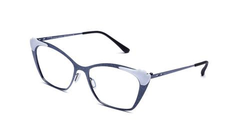 Italia Independent - Jenny Glossy Dark Blue Glitter Eyeglasses / Demo Lenses