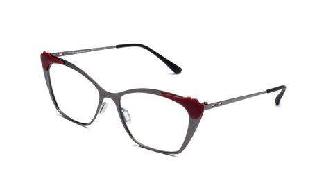 Italia Independent - Jenny Matte Gunmetal Eyeglasses / Demo Lenses