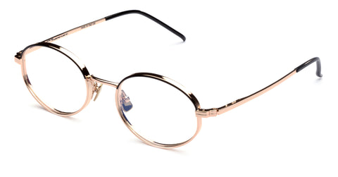 Italia Independent - Francis Pink Gold + Black Eyeglasses / Demo Lenses