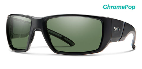 Smith - Transfer XL Matte Black Sunglasses / ChromaPop Polarized Gray Green Lenses