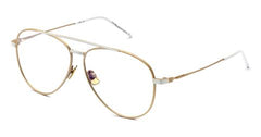 Italia Independent - Forrest Gold + White Eyeglasses / Demo Lenses