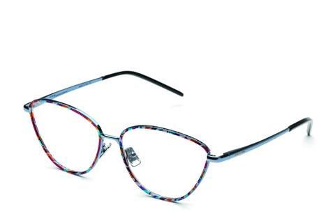 Italia Independent - Georgie Light Blue + Havana Pop Eyeglasses / Demo Lenses