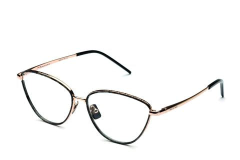 Italia Independent - Georgie Light Gold + Horn Eyeglasses / Demo Lenses