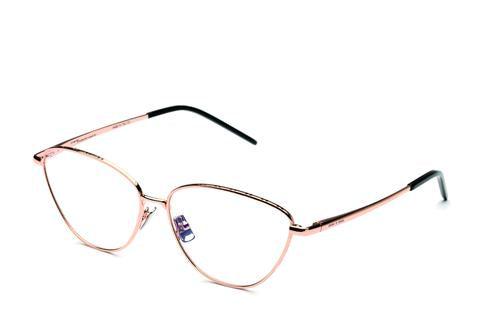 Italia Independent - Georgie Glossy Rose Gold Eyeglasses / Demo Lenses