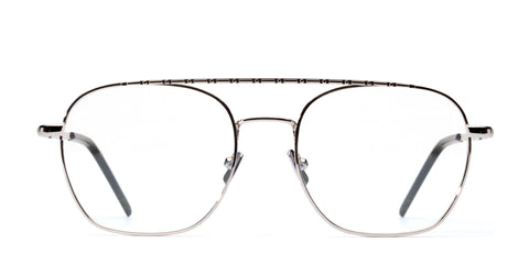 Italia Independent - Joey Glossy silver Eyeglasses / Demo Lenses