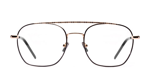 Italia Independent - Joey Light Gold + Black Eyeglasses / Demo Lenses