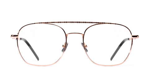 Italia Independent - Joey Glossy Rose Gold Eyeglasses / Demo Lenses
