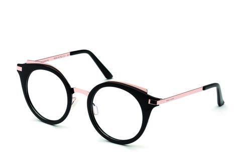 Italia Independent - Michelle Black + Pink Gold Eyeglasses / Demo Lenses