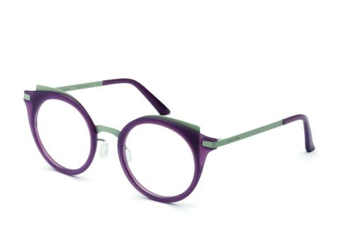 Italia Independent - Michelle Aubergine + Grey Eyeglasses / Demo Lenses