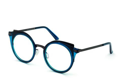 Italia Independent - Michelle Dark Blue + Gunmetal Eyeglasses / Demo Lenses