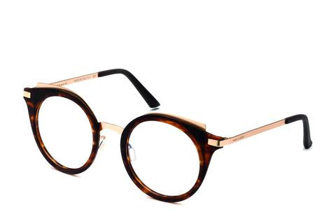 Italia Independent - Michelle Havana Brown + Gold Eyeglasses / Demo Lenses