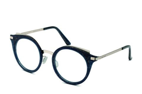 Italia Independent - Michelle Silver Glitter Eyeglasses / Demo Lenses