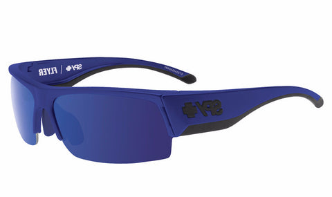 Spy - Flyer Royal Blue Sunglasses, Happy Bronze W/ Dark Blue Spectra + Happy Rose + Clear Lenses