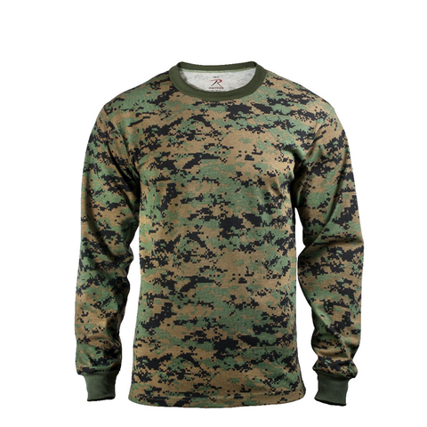 Rothco - Woodland Digital Camo Long Sleeve Tee