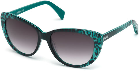 Just Cavalli - JC646S Light Green Sunglasses / Gradient Green Lenses