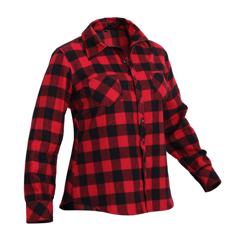 Rothco - Women's Plaid Red Flannel Shirt
