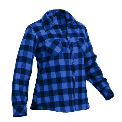 Rothco - Women's Plaid Blue Flannel Shirt