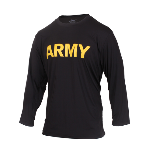 Rothco - Army Physical Training Black Long Sleeve Tee