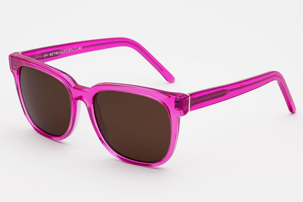 Super - People Crystal Fuxia Sunglasses