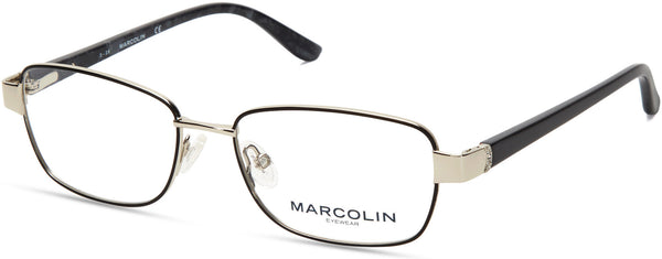 Marcolin - MA5018 51mm Black Eyeglasses / Demo Lenses
