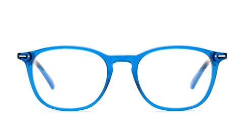 Italia Independent - Giorgio Glossy Marine Blue Eyeglasses / Demo Lenses