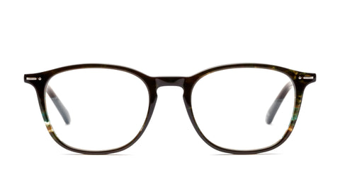Italia Independent - Giorgio Glossy Havana Green Eyeglasses / Demo Lenses
