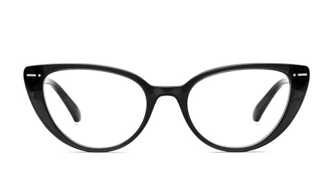 Italia Independent - Serena Black Eyeglasses / Demo Lenses