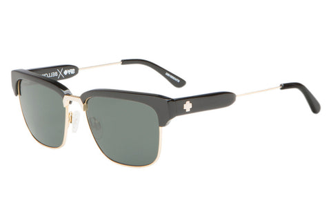 Spy - Bellows Black / Gold Sunglasses, Happy Grey Green Lenses