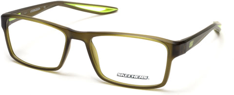 Skechers - SE3223 Matte Dark Green Eyeglasses / Demo Lenses