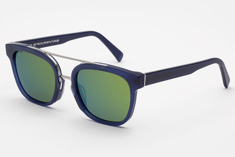 Super - Akin Deep Blue Sunglasses