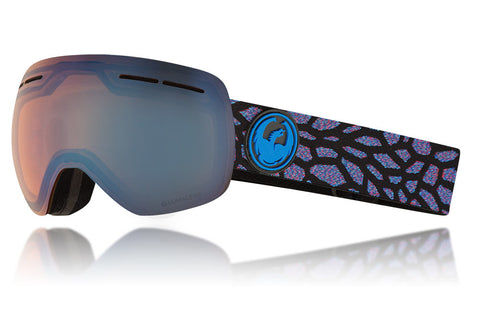 Dragon X1s Olio Snow Goggles / Lumalens Flash Blue + Dark Smoke Lenses
