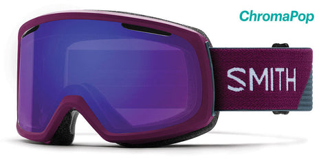 Smith - Riot Grape Split Snow Goggles / ChromaPop Everyday Violet Mirror Lenses