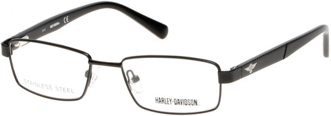 Harley-Davidson - HD0128T Matte Black Eyeglasses / Demo Lenses