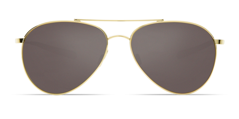 Costa - Piper  Shiny Gold Sunglasses / Gray Polarized Glass Lenses