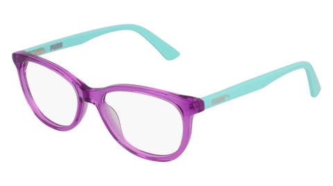 Puma - PJ0021O Junior Violet + Light Blue Eyeglasses / Demo Lenses