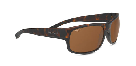 Serengeti - Bergamo Matte Tortoise Sunglasses / PhD 2.0 Polarized Drivers Brown Lenses