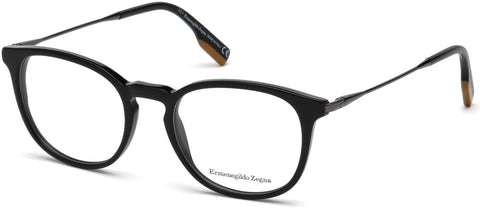 Ermenegildo Zegna - EZ5125 Shiny Black Eyeglasses / Demo Lenses