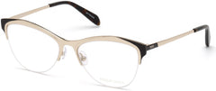 Emilio Pucci - EP5073 Shiny Rose Gold Eyeglasses / Demo Lenses