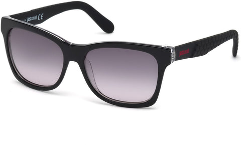 Just Cavalli - JC649S Shiny Black Sunglasses / Gradient Smoke Lenses