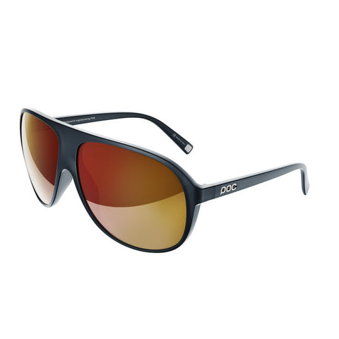 POC - Did Navy Black Translucent Sunglasses / Orange Red Mirror Lenses