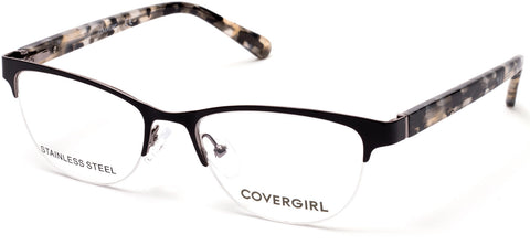 Cover Girl - CG0544 Matte Black Eyeglasses / Demo Lenses