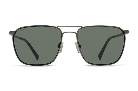 VonZipper - League Charcoal Gloss Sunglasses / Wild Vintage Grey Polarized Lenses