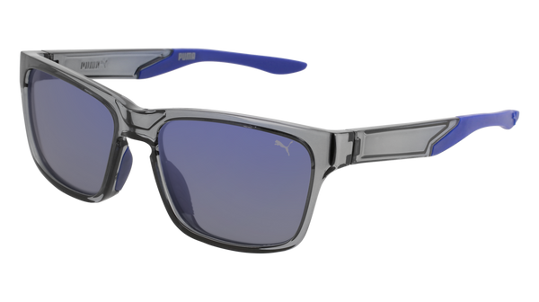 Puma - PU0169S Grey Sunglasses / Blue Lenses