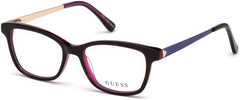 Guess - GU9177 Dark Havana Eyeglasses / Demo Lenses
