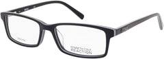 Kenneth Cole - KC0749 52mm Black + White Eyeglasses / Demo Lenses