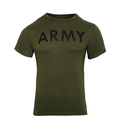Rothco - Military Physical Training Army Olive Drab T-shirt