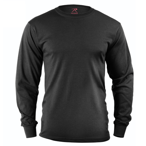 Rothco - Solid Black Long Sleeve Tee