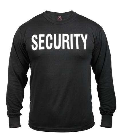 Rothco - 2-Sided Security Black Long Sleeve Tee