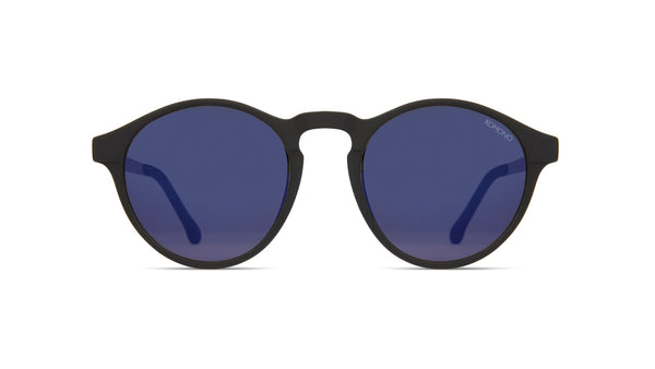 Komono - Devon Black Silver Sunglasses / Violet Lenses